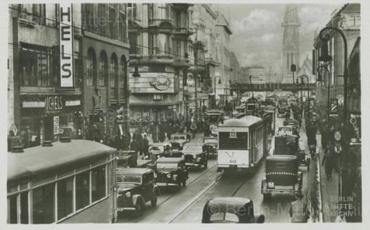 Königstraße (heute Fußgängerzone Rathausstraße), um 1928